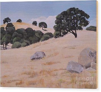 Fresno Foothills Wood Print
