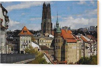 Fribourg Switzerland Wood Print by Jann Paxton