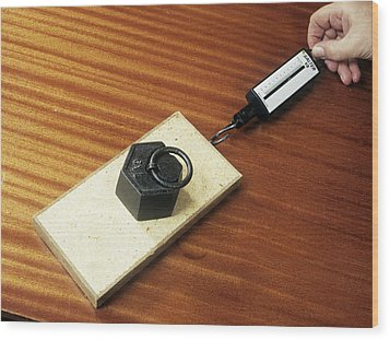 Friction Demonstration, Image 2 Of 2 Wood Print by Andrew Lambert Photography