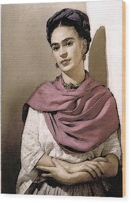 Frida Interpreted 2 Wood Print by Lenore Senior