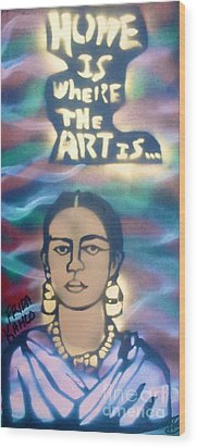 Frida Kahlo Wood Print by Tony B Conscious
