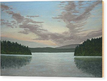 Friday Harbor Sunrise Wood Print by Carl Capps