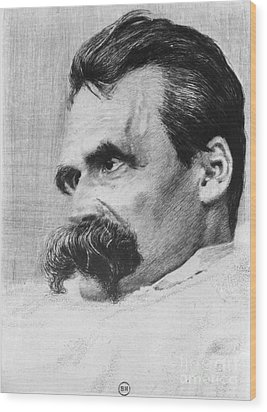 Friedrich Wilhelm Nietzsche, German Wood Print by Photo Researchers
