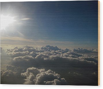 Friendly Skies Wood Print