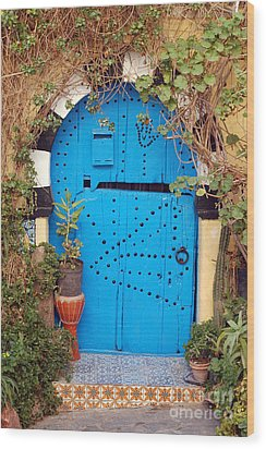 Wood Print featuring the photograph Friendship Door by Eva Kaufman