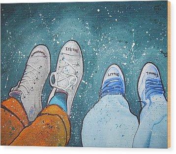 Friendship Wood Print by Jan Farthing