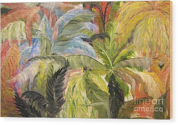 Frolicking Ferns Wood Print by Rachel Carmichael