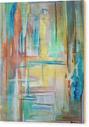 From Dusk To Dawn Wood Print by Derya  Aktas