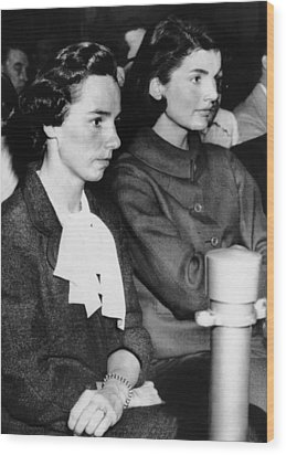 From Left, Ethel Kennedy, Jacqueline Wood Print by Everett