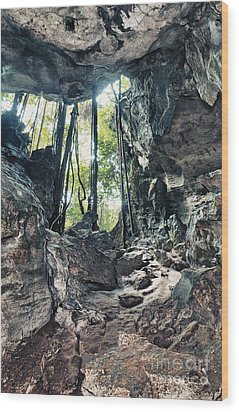 From The Cave Wood Print by MotHaiBaPhoto Prints