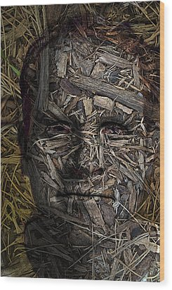 From The Earth Wood Print by Christopher Gaston