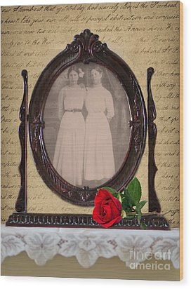 From The Past Wood Print by Betty LaRue