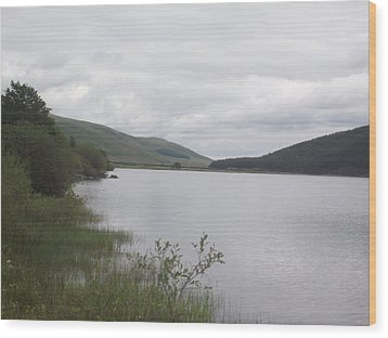 Wood Print featuring the photograph From The Shoreline Of St Marys Loch by Martin Blakeley