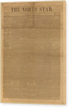 Front Page Of The North Star, June 2 Wood Print by Everett
