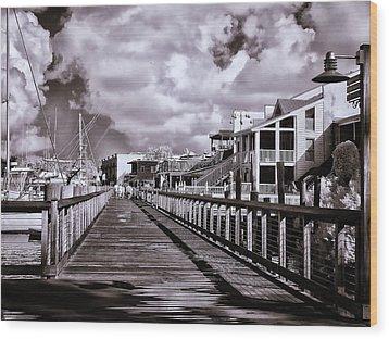 Front Street Boardwalk - Infrared Wood Print