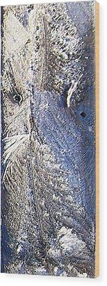 Frost Owl Wood Print by Greta Thorsdottir
