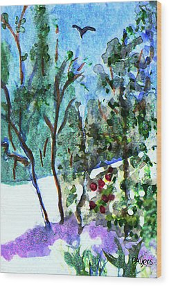 Wood Print featuring the painting Frosty Morning by Paula Ayers