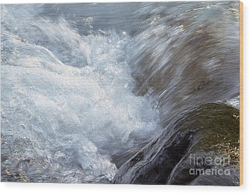 Froth Wood Print by Sharon Talson