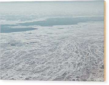Frozen And Ice Covered Gulf Of Finland Wood Print by Photography by Oleg Pulemjotov (Photogruff)