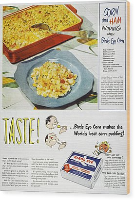 Frozen Food Ad, 1947 Wood Print by Granger