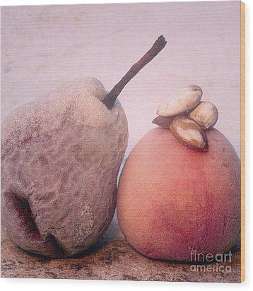 Frozen Fruits Wood Print by Bernard Jaubert
