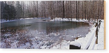 Wood Print featuring the photograph Frozen Head Pond by Paul Mashburn