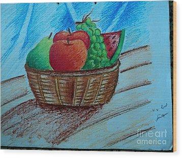Fruit Basket Wood Print by Tanmay Singh