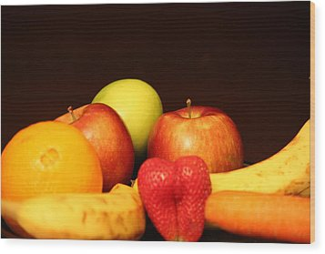 Fruit Dreams After Mid-night Wood Print by Andrea Nicosia