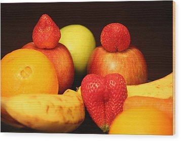Fruit Dreams Before Daybreak Wood Print by Andrea Nicosia