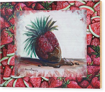 Fruit Fusion Wood Print by Shana Rowe Jackson