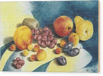 Fruit Wood Print by Helene Schmittgen