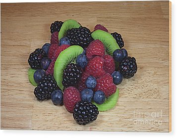 Fruit Mixture 2 Wood Print by Michael Waters
