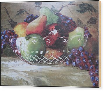 Fruit Still-life  Wood Print by Kay Novy
