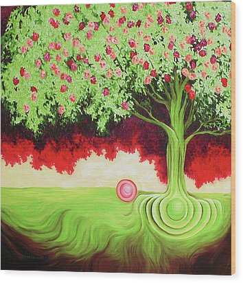 Fruit Tree Wood Print