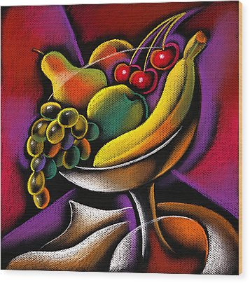Fruits Wood Print by Leon Zernitsky