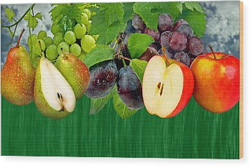 Fruits Wood Print by Manfred Lutzius