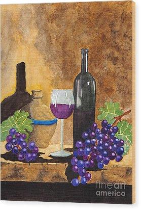Fruits Of The Vine Wood Print by Kimberlee Weisker