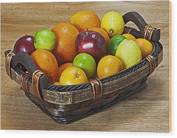 fruits with vitamin C Wood Print by Joana Kruse