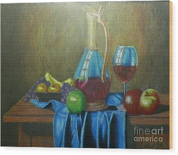 Fruity Still Life Wood Print by Mickael Bruce