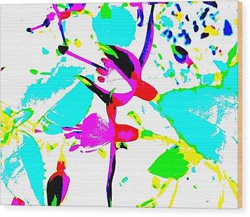 Wood Print featuring the digital art Fuchsia by Barbara Moignard