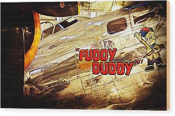 Fuddy Duddy Wood Print