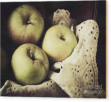 Fuji Apples Wood Print