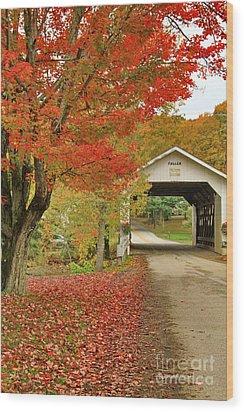 Fuller Bridge Wood Print by Deborah Benoit