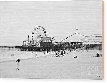 Fun At The Beach Wood Print by Scott Pellegrin
