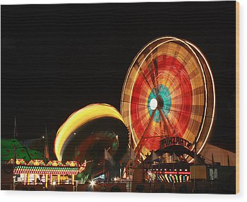Fun At The Fair Wood Print by Tyra  OBryant