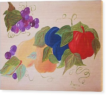 Fun Fruit Wood Print by Alanna Hug-McAnnally