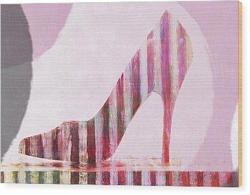 Funky Shoe Wood Print by David Ridley