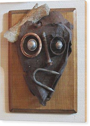 Funny Bone Wood Print by Snake Jagger