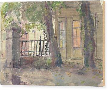 Furmanny Pereulok Wood Print by Leonid Petrushin