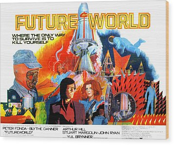 Futureworld, Center, From Left Peter Wood Print by Everett